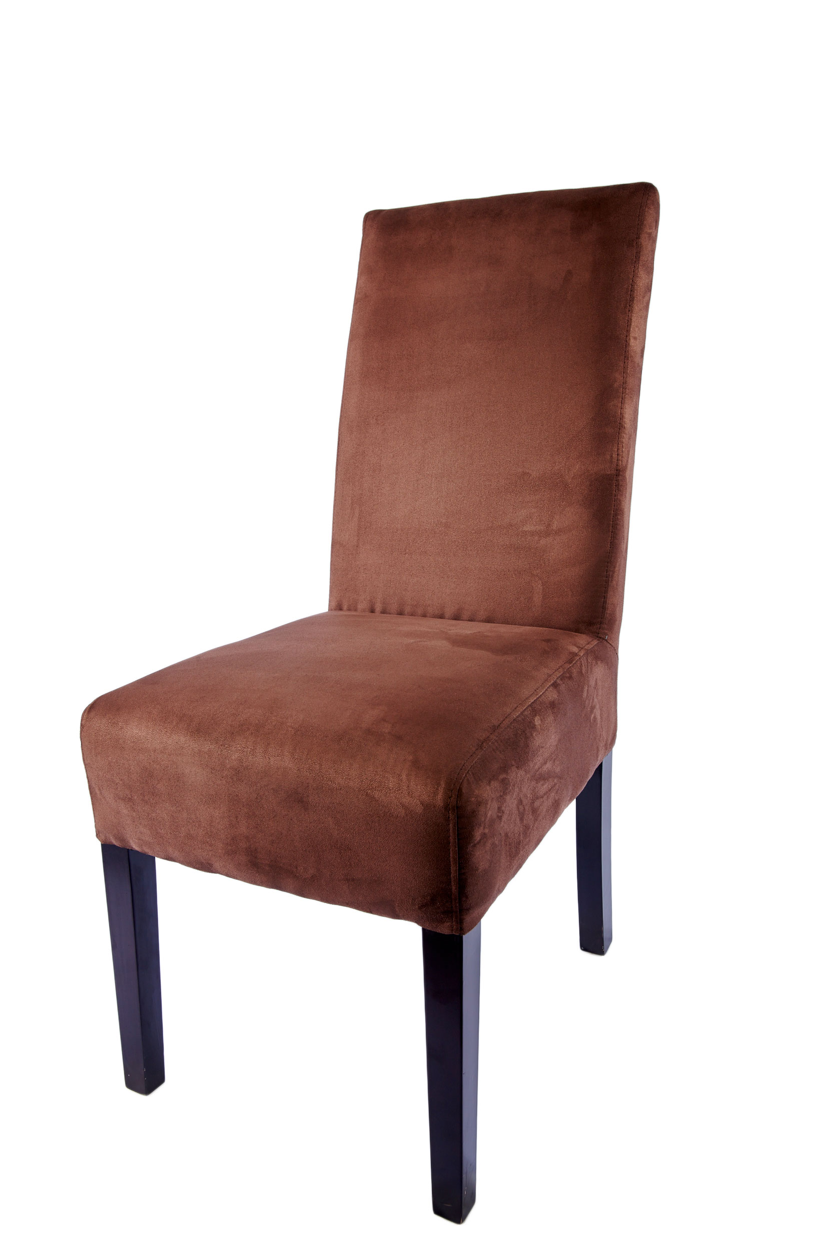 Mdrn Brown Suede Armless Chair